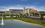 Artist rendition of Fort Riley Replacement Hospital courtesy of Leo A. Daly Architects